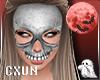 Skull Mask F   White