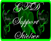~GFD~SUPPORT STICKER 3K