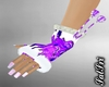 Purple Dripping Gloves