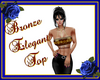 Bronze Elegant top