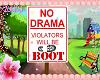 no drama park sign