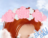 Pink & White Rose Crown