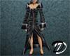 Velvet Robe Dress (blk)
