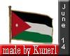 !K! Flag of Jordanien