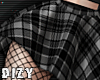 Plaid+Net Skirt XL