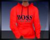 boss hoodie red