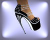 Spike Heel Pumps.. black