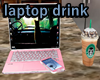 Pink Laptop and drink