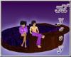 Large Round Bed Purple