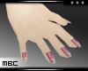 Pearl Pink Flwr Nails S