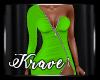 [K] Toxic Lime Dress RL