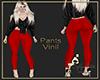 pants vinil red