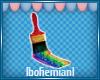 Rainbow Brush Sticker