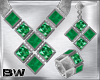 Emerald Silver Set