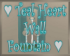 Teal Heart Wall Fountain