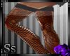 Ss::Blk Ripped Stocking
