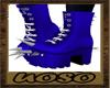 Blue Spike Shoes