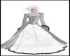 Grey White Winter Dress