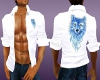 White Casual Wolf Shirt