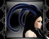 Metallic blue horns M/F