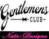 gentlemans club sign