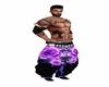Pants Purple Flower SB