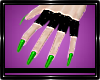 Pvc Gloves Green Nails