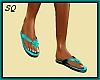 [SQ] Teal Flip Flops