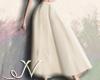 N. White Long Skirt