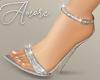 $ Sparkly Silver Heels