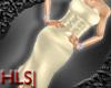 HLS ChampagneSilk Dress