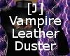 [J] Vamp. Leather Duster