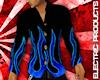 (W) BLACK - BLUE FLAMES