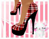 Red Plaid Pumps