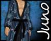 Juno Silk Kimono Blue