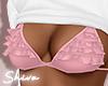 $ White Top & Pink Bra