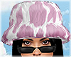 cow bucket hat in pink