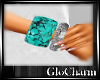 Glo*TurquoiseSilverWrist