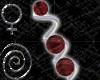 Ruby Spiral Earrings