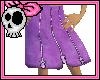 Violet Zipper Skirt