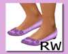 PURPLE girls BALLET shoe