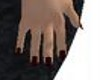 Stars red & black nails