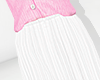 💕 White long skirt