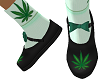 weed kids shoes pot leaf