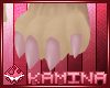 !K Pink Wolf Paws m