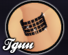 [TGUU] L Black Bracelet