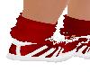 Red sock shoe