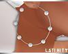 L* Diamond Pearl Hoops
