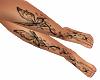 SL Butterfly Leg Tattoo