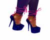 Blue/ pink heels